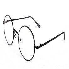 Lisse Hot Sale Vintage Inspired Oversized Circle Clear Plain Glasses Alloy Frame Designer Outdoor Eyewear Spectacle for Women