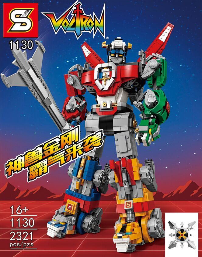Warrior Heroes The Voltron Model Building Blocks Compatible Classic Robot Education Christmas Gift Toys For Children SY1130 solar electronic building blocks children s electrical science and education diy toys christmas gift