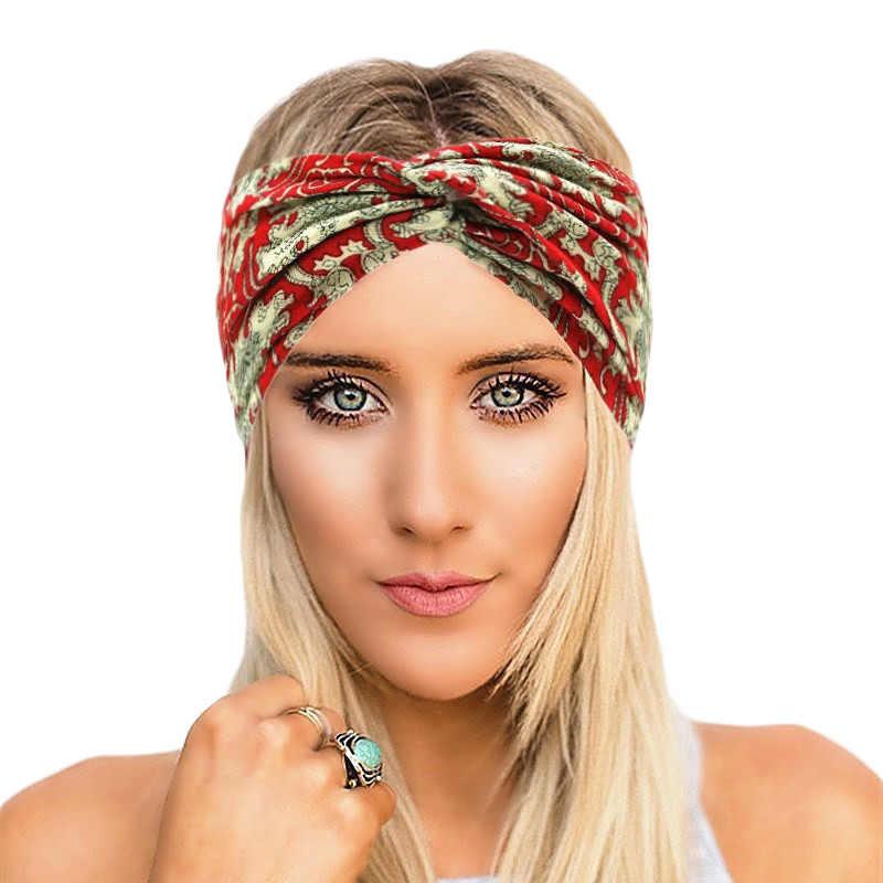 Classic Twist Headband for Women Leopard Elastic Turban Headwrap Sport  Outdoor Knot Hairbands Turbante Party Hair a09ee8ec26f9