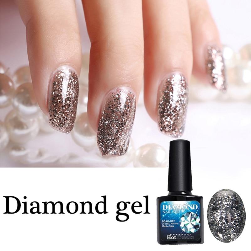 1 PCS 8ml Nail Art Supply Samples diamond Gel Polish for Salon nail ...