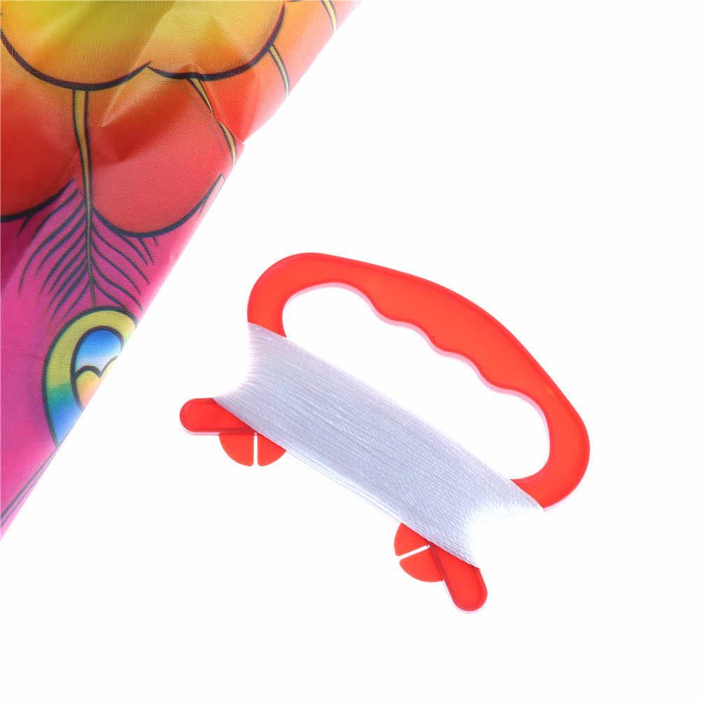 Outdoor Opvouwbare kinderen Kite Stunt Kite Surf Met 60 m Controle Bar En Lijn Nylon Regenboog Vlinder Kite Willekeurige kleur