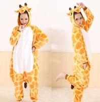 Flannel Anime Cartoon Onesies Adult Animal Cosplay Sleepwear Pyjamas Giraffe Pajamas Nightclothes Winter Warm Unisex Jumpsuit