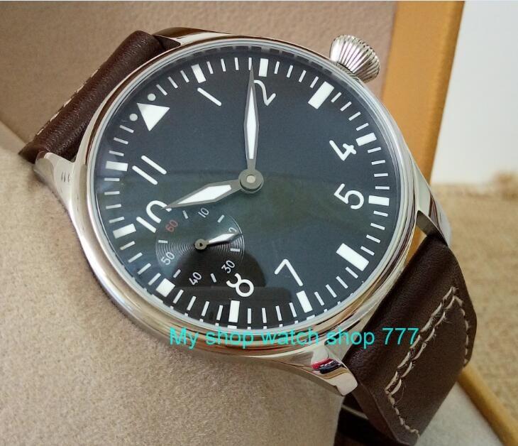 蝶バックル 2017 新ファッション 44 ミリメートルパーニスパイロット 6497 メカニカルハンド風ムーブメントメンズ腕時計卸売 xRNM11  グループ上の 腕時計 からの 機械式時計 の中 2