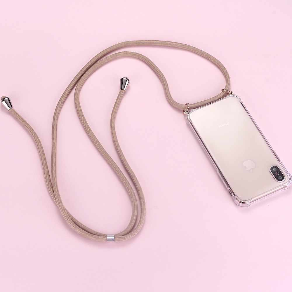 Strap Cord Chain Telefoon Tape Ketting Lanyard Mobiele Telefoon Case voor Carry Cover Case Hangen iPhone 11 Pro XS Max XR X 7Plus 8Plus