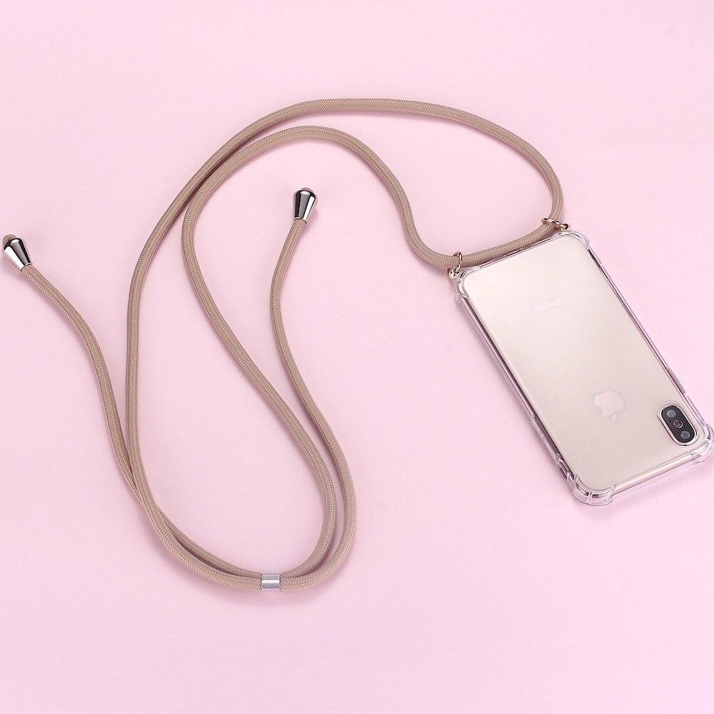 Sangle cordon chaîne téléphone bande collier lanière étui de téléphone portable pour housse de transport accrocher iPhone 11 Pro XS Max XR X 7Plus 8Plus