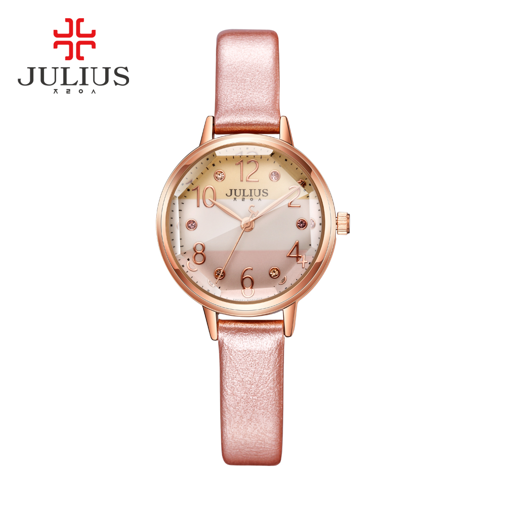 JULIUS Logo Top Brand Fashion Ladies Rose Gold Watches Style Rhinestone Watches Women Prices Cheap Watches