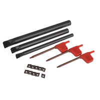 10pcs CCMT0602 Carbide Insert 3pcs SCLCR Boring Bar Tool Holder With 3pcs Wrenches For Lathe Turning