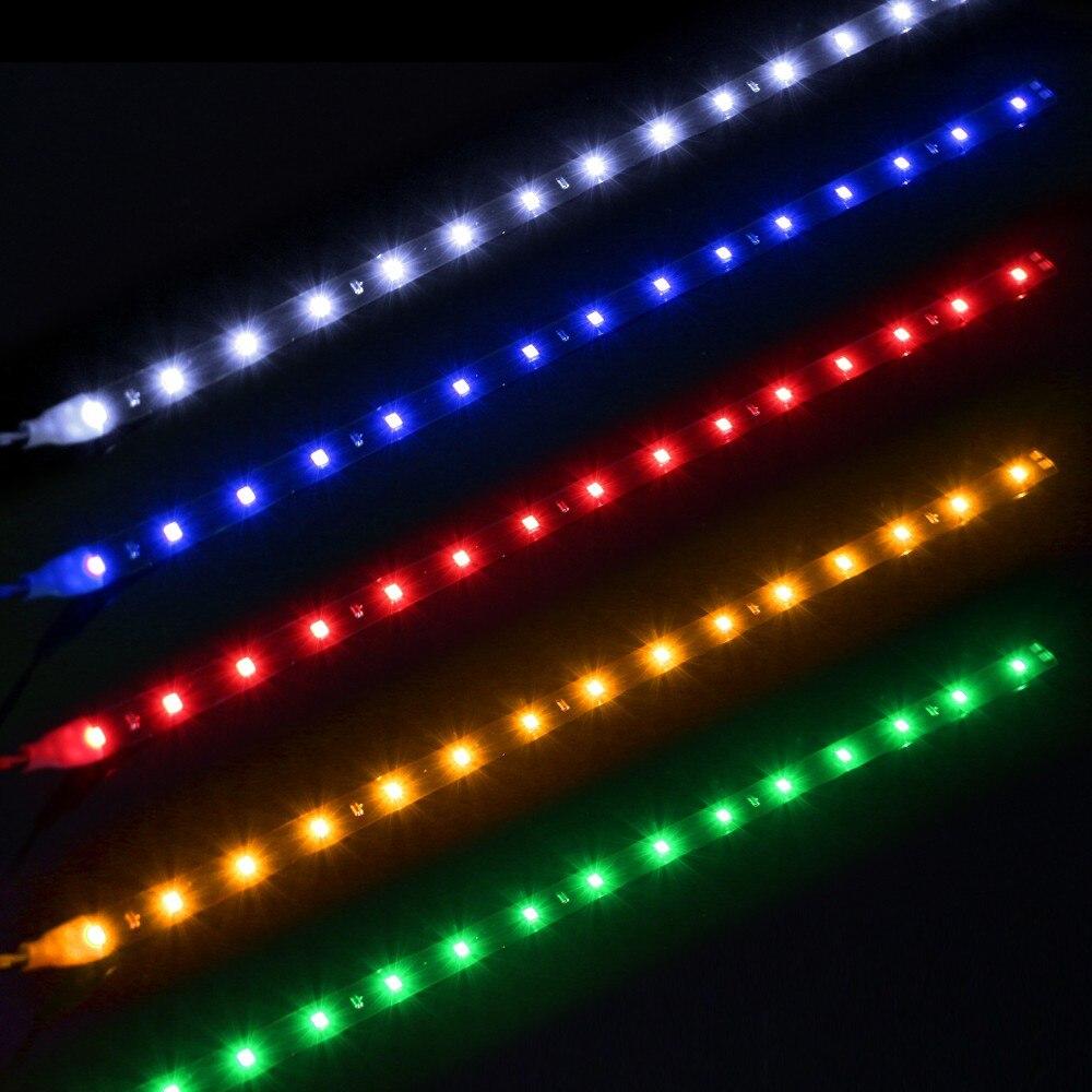 LED Strip 12V 30CM 15SMD 2835LED flexible Waterproof led light White,Red,Green,Blue,Yellow Ceiling Bar Counter Cabinet Light