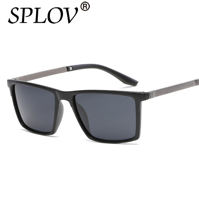 34eb7bef90 2017 SPLOV Fashion oversize Polarized sunglasses Luxury square sunglasses  men brand designer metal Unisex women mirror celebrity