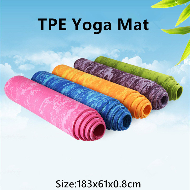 5 Colors Thick Antiskid Camouflage Fitness Pilates Yoga Mat Soft Playmat Outdoor Picnic Blanket