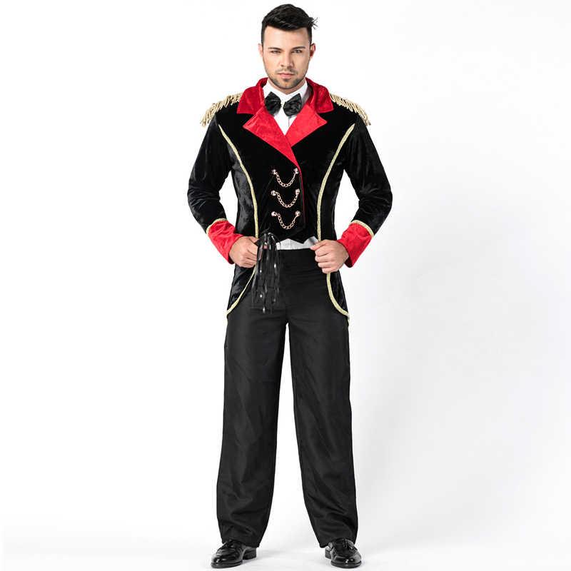 Ringmaster Tuxedo Costume For Adult Mens Circus Tamer Magic Show Fantasia  Outfit Performance Fancy Dress 35c7630891e8