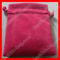 (500pcs/lot)  8x10 cm Rose pink velvet pouch gift bag wholesale