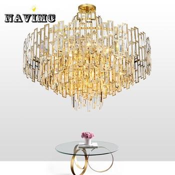 Пост-современный светодиодный хрустальная люстра, креативная гостиная, столовая, роскошные скандинавские минималистичные люстры