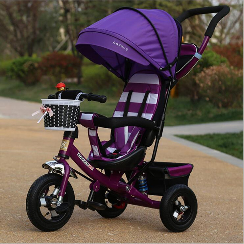 Portable folding bike baby bicycle baby car children's bicycles three wheels 1-3-6 years old baby Child stroller bicycle Gifts baby stroller pram bb rubber wheel inflatable tires child tricycle infant stroller baby bike 1 6 years old bicycle baby car