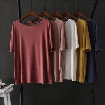2018 fashions summer wear T-Shirts body repair small fresh thin and regular bottoming shirt