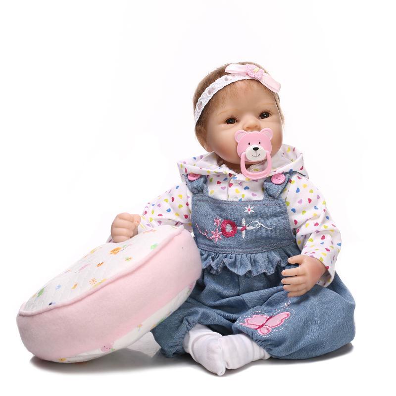 ФОТО BeBe Reborn 20inch Soft Silicone Reborn Doll Toys Lifelike Newborn 50cm Doll Reborn Realista Juguetes Babies Toys Brinquedos