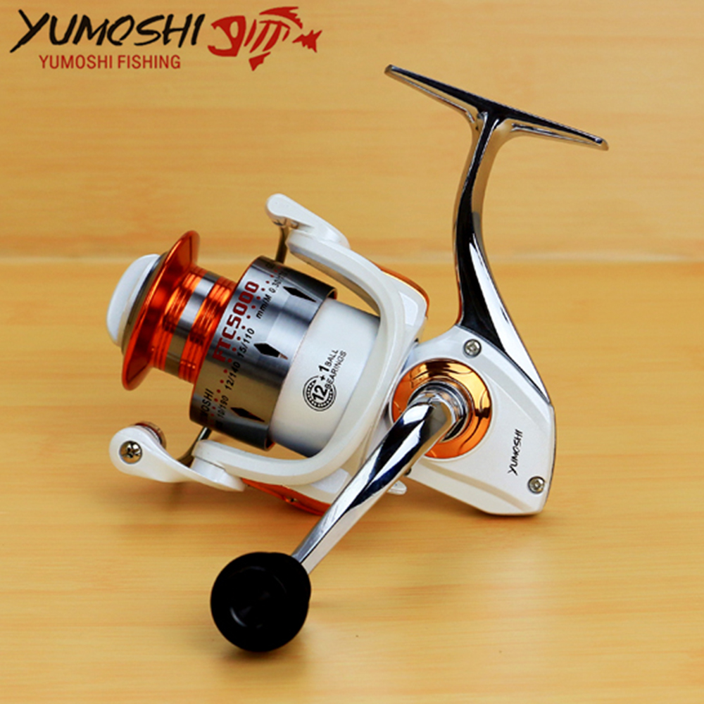 Spinning Fishing Reel 12BB + 1 Bearing Balls Fly Fishing Reel Boat Rock Fishing Wheel 3000 4000 5000 6000 7000