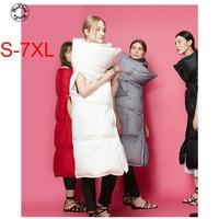 Woxingwosu women's winter long white duck feather waistcoat,warm vest. size S to 5XL 6XL 7XL