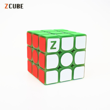 Newest Zcube 3x3x3 Profissional Magic Cube Green light Transparent Glow Competition Speed Puzzle Cubes cubo Pattern Stickers