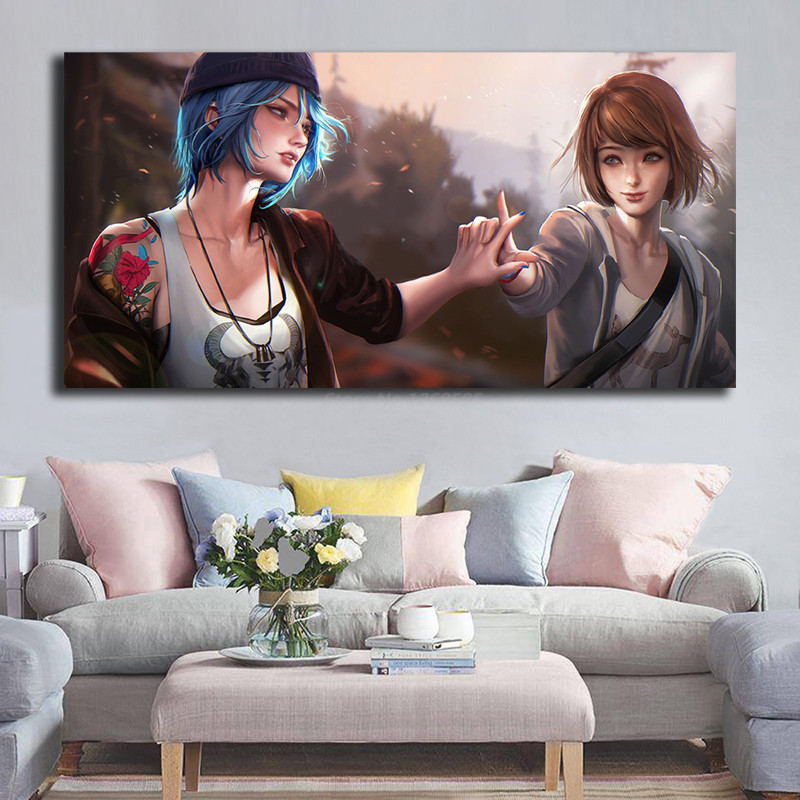 Us 611 6 Offmax Caulfield Chloe Price Sakimichan Life Is Strange Wallpaper Art Canvas Poster Painting Wall Picture Print Home Bedroom Decor In