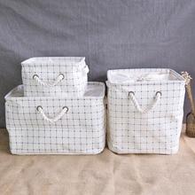 1Pcs Foldable Sealing Storage Bag Sundry Linen Cotton Rack Makeup Clothes waterproof Organizer Home Decoration Storage Box