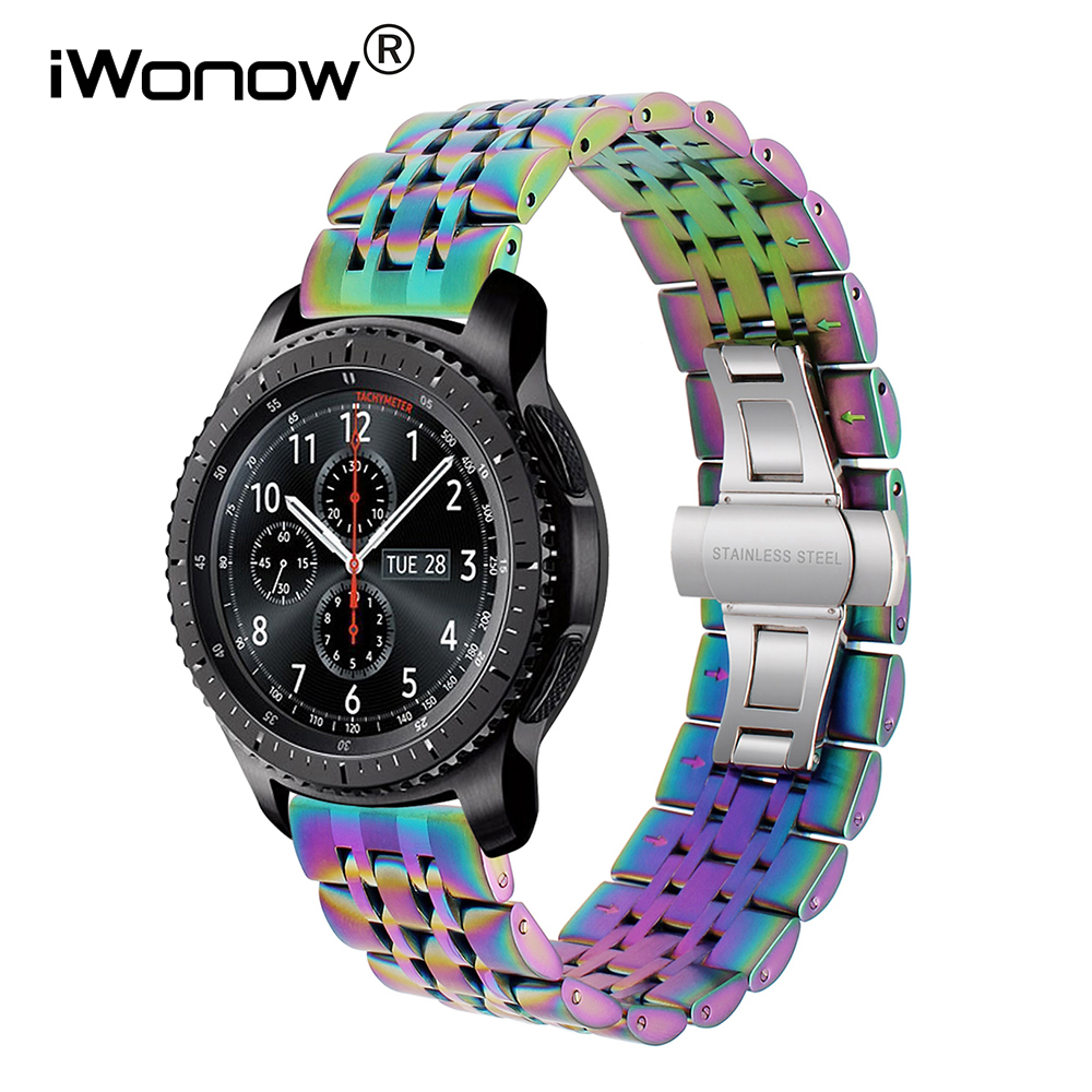 Quick Release Stainless Steel Watchband 22mm for Samsung Gear S3 Classic Frontier Gear 2 Neo Live Vector Watch Band Wrist Strap смарт часы samsung gear s2 black