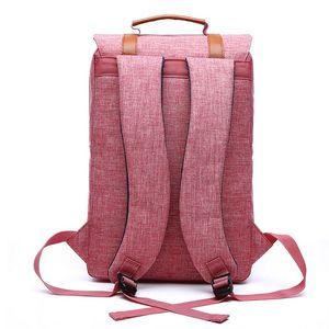 Image 4 - Femmes toile sac à dos décontracté sacs à dos femme 15 pouces sacs à dos dordinateur portable collège étudiant école sac à dos femmes Mochila