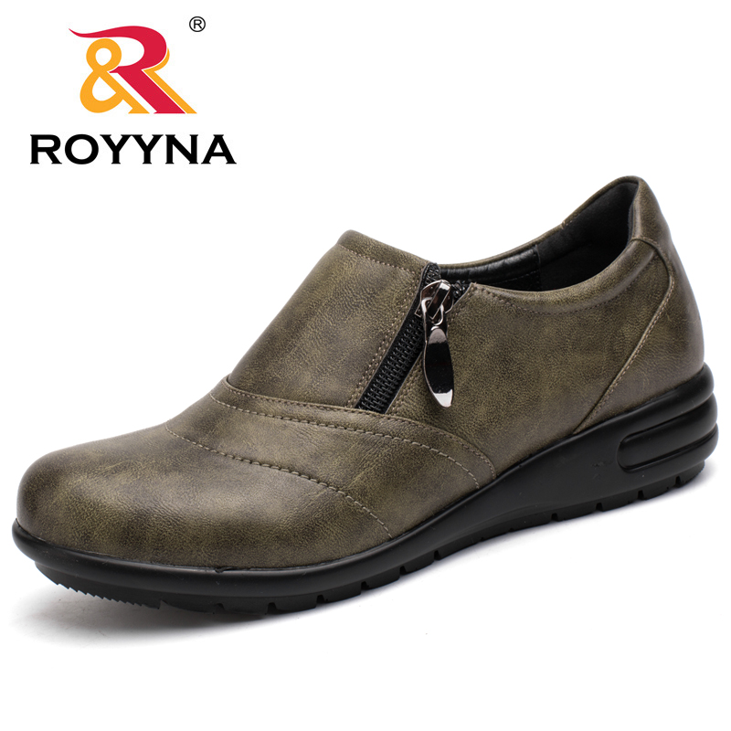 ROYYNA 2017 New Style Women Casual Shoes Zip Women Shoes Round Toe Women Flats Comfortable Women Loafers Fast Free Shipping royyna new sweet style women sandals cover heel summer gingham women shoes casual gladiator ladies shoes soft fast free shipping