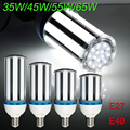 Super Bright E27 E40 35W/45W/55W/65W LED Light Bulb Lamp 85-265V Cylinde Horizontal Plug Lamp 5630 SMD Corn Light Energy Saving