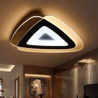 Ультра тонкий светодиодный треугольные Потолочный Свет Современные Простые дома и коммерческого освещения потолочный светильник 110 240 В