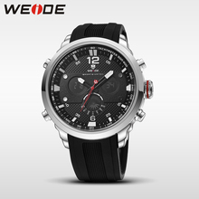 WEIDE men watch sport digital luxury brand black Jung relogios quartz watche water resistant Schocker fashion casual alarm clock