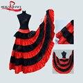 Bohemian skirt/gypsy skirt/belly dance skirt/flying skirt/Flamenco/Belly Dancing 540degree