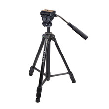 Kingjoy VT-1500 Well-liked Low-cost Mild Weight Three Part Flip Lock Video Tripod with Fluid Damping Head for Camcorder For Promotion