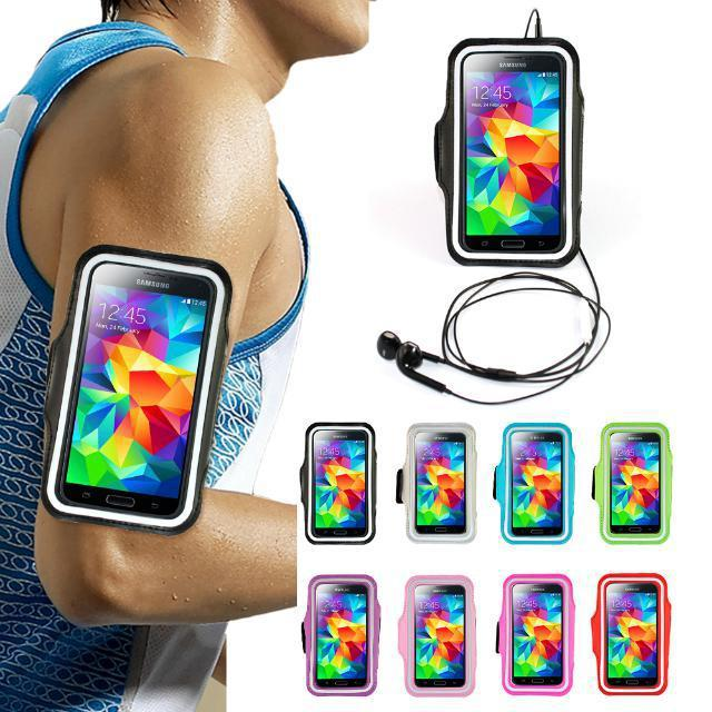 For Samsung Galaxy S5 i9600 Outdoor Sport Running Arm Band Gym Wrist Strap Tune Belt Cover Holder Phone Cases Cover