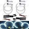 4x131.5mm Carro Branco Anéis de Halo CCFL Angel Eyes Faróis para BMW E46, E36, E39, Kits de Luz E318A04 # FD-3128