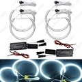 4x131.5mm White Car CCFL Halo Rings Angel Eyes Headlights for BMW E46,E36,E39,E318A04 Light Kits #FD-3128