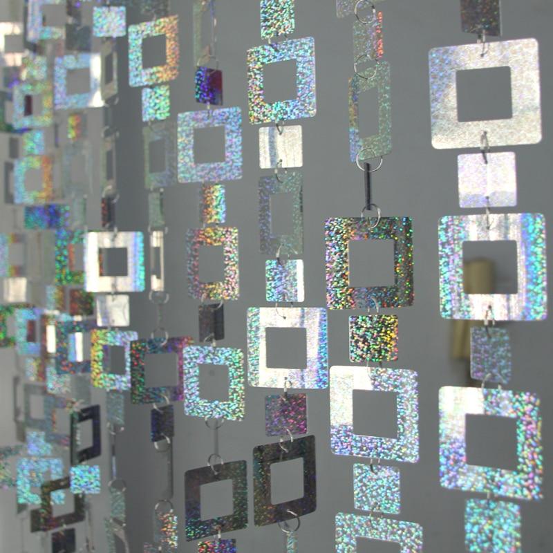 5m Square sequins Curtains Festive Christmas party ornaments Wedding background Decorative supplies