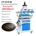 Машина для горячего тиснения кожи  пневматическая машина для тиснения золота с большой областью 300*400 мм  ZY-819M