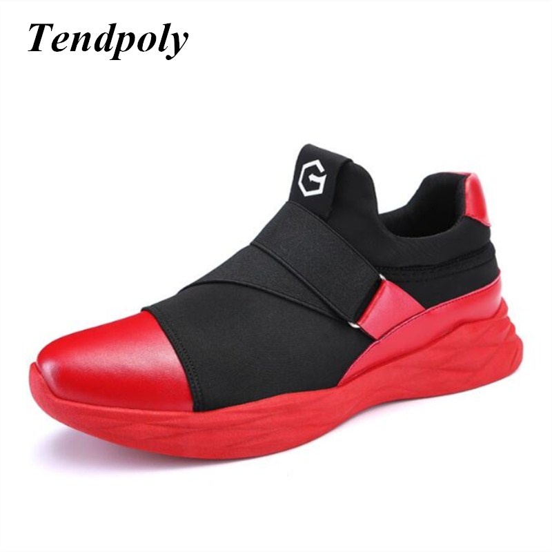 2018 new fashion men's shoes spring autumn elastic sets of feet Korean students shock net shoes hot paragraph wild casual shoes