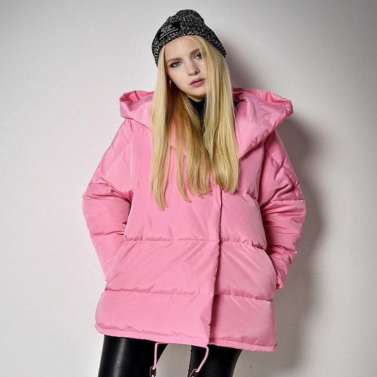 Winter Jackets Women 90% White Duck Down Parkas Loose Fit Plus Size Hooded Coats Medium Long Warm Casual Pink Snow Outwear 06 цены онлайн