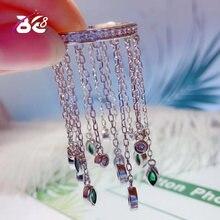 Женское кольцо с кисточками be 8 роскошное инкрустацией из фианита