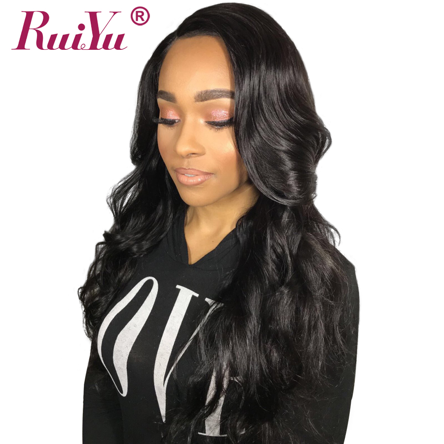 RUIYU Indian Body Wave Hair Wigs Full Lace Front Human Hair Wigs For Black Women Non Remy Hair Lace Wig With Baby Hair 8″-24″