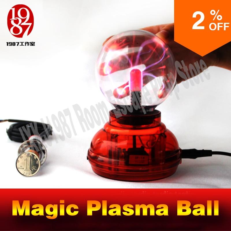 Игра реквизит для побег номер магия плазменный шар таинственный головоломки на камере касаясь мяч на определенное время, чтобы разблокировать JXKJ
