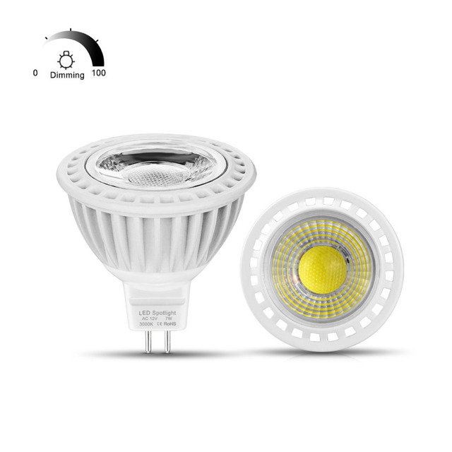 Dimmable MR16 LED 12V AC / DC 12V Spot light Bulb MR16 COB 3W 5W 7W ...