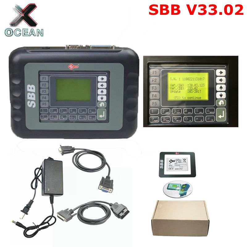 Free Shipping 2019 New Slica SBB Key Programmer SBB V33.02 Multi-language Auto Car  Key Programming Machine Tool Low Price