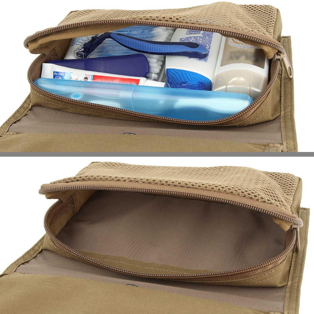 EXCELENTE ELITE SPANKER Portátil Pequeno saco de Viagem de Nylon Saco de Cosmética Das Mulheres Dos Homens Táticas Necessaries Maquiagem Sacos Cosméticos À Prova D' Água