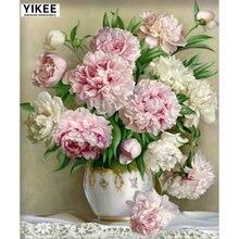 Yikee b042 алмазная живопись своими руками 5d вышивка цветами