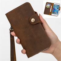 QX11 genuine leather wallet phone bag for Huawei Y7 Prime flip cover case for Huawei Enjoy 7 Plus phone case