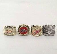 Полный набор (4 шт.) 1997 1998 2002 2008 Detroit Red Wings НХЛ Стэнли чемпионата кольцо