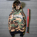 Thrasher Hoodies New Skateboard Sweartshirts Pullover Sudadera Hombre Camouflage Hip Hop Thrasher Hoodie